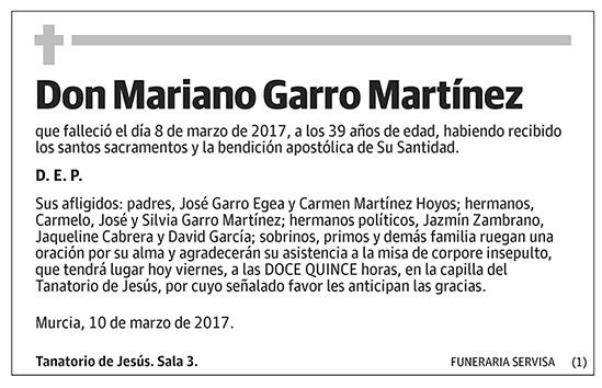 Mariano Garro Martínez