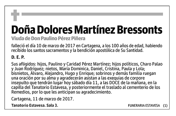 Dolores Martínez Bressonts