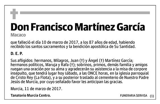 Francisco Martínez García