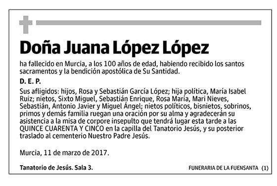 Juana López López