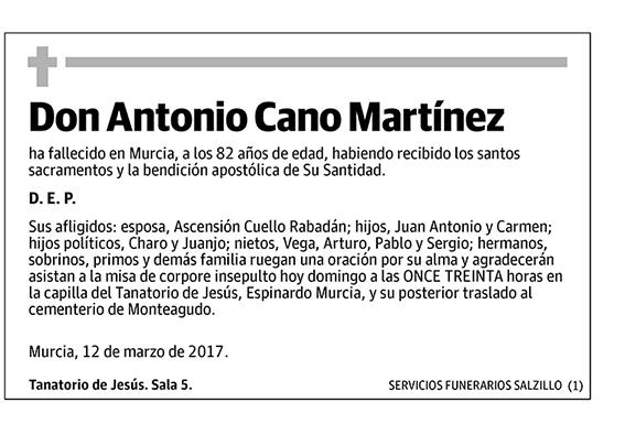Antonio Cano Martínez