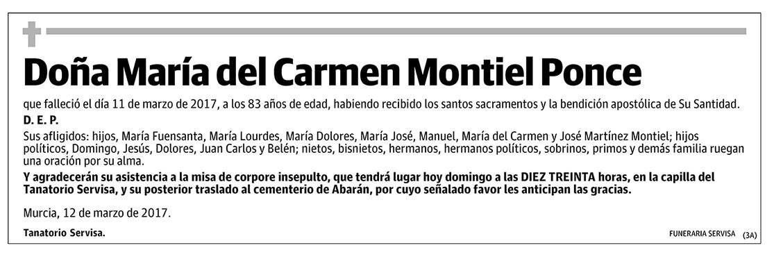 María del Carmen Montiel Ponce