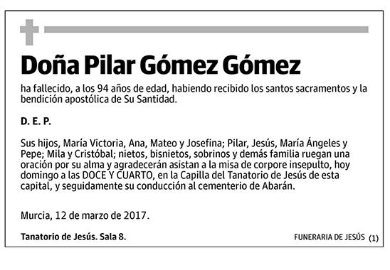 Pilar Gómez Gómez
