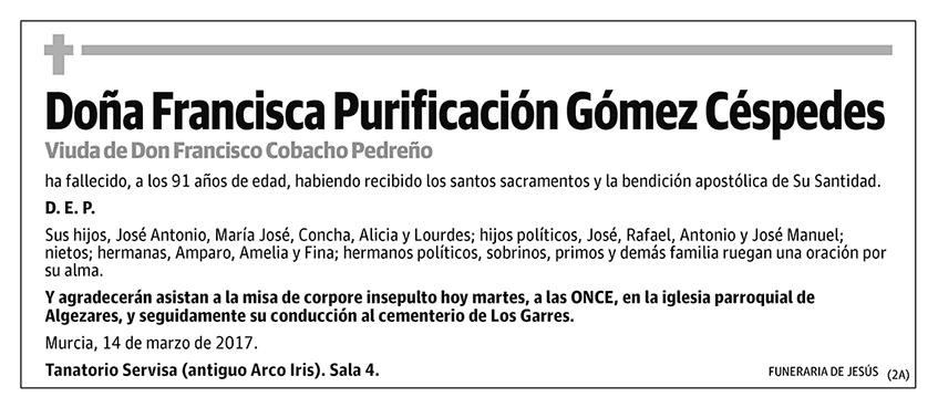Francisca Purificación Gómez Céspedes