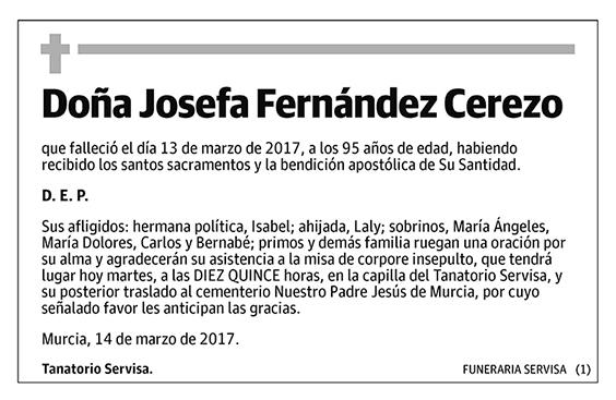 Josefa Fernández Cerezo