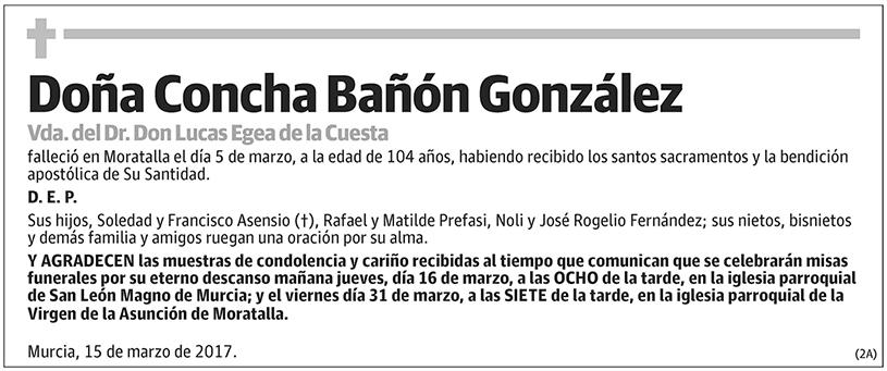Concha Bañón González