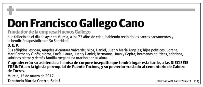 Francisco Gallego Cano