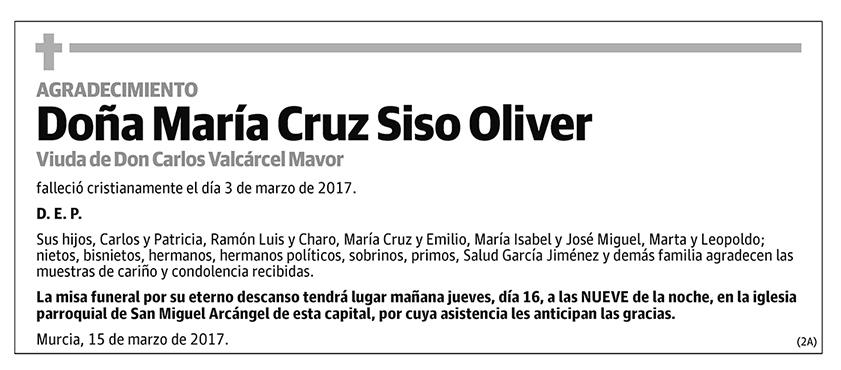 María Cruz Siso Oliver