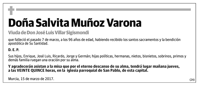 Salvita Muñoz Varona