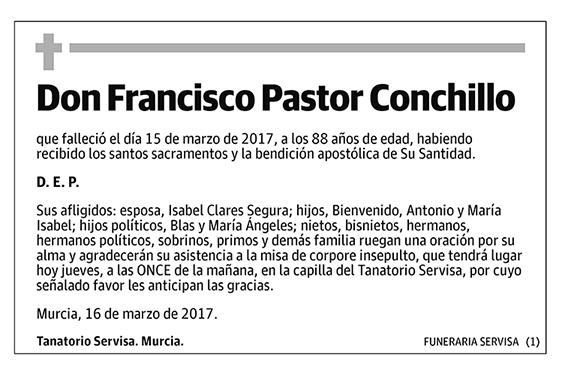 Francisco Pastor Conchillo