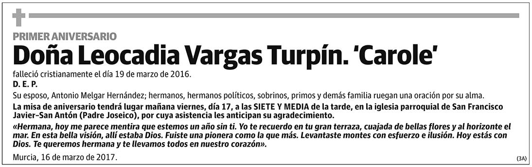 Leocadia Vargas Turpín. 'Carole'