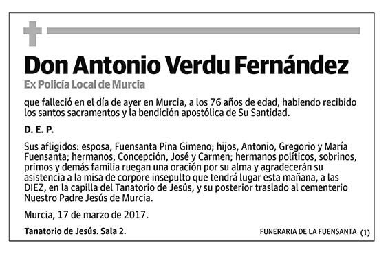 Antonio Verdu Fernández