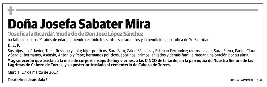 Josefa Sabater Mira