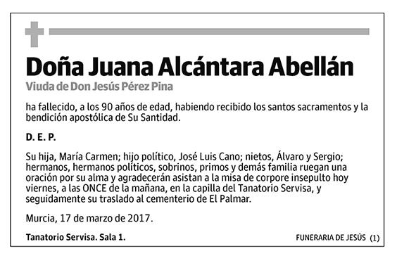 Juana Alcántara Abellán
