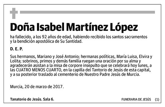 Isabel Martínez López