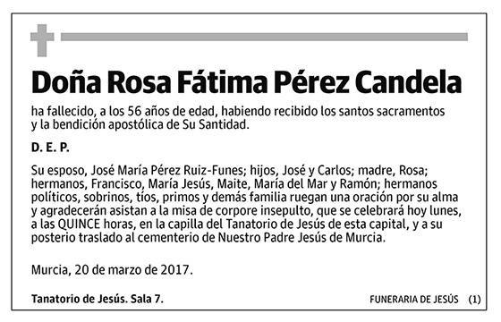 Rosa Fátima Pérez Candela