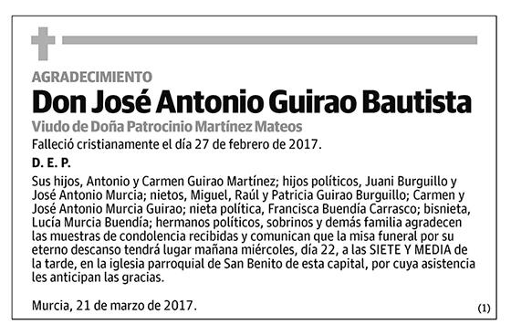 José Antonio Guirao Bautista