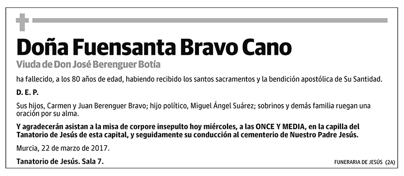 Fuensanta Bravo Cano