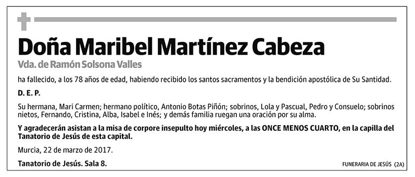 Maribel Martínez Cabeza