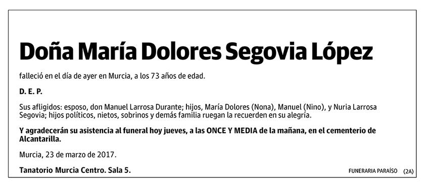 María Dolores Segovia López