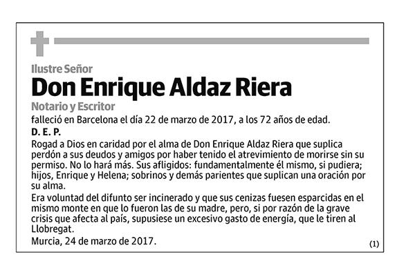 Enrique Aldaz Riera
