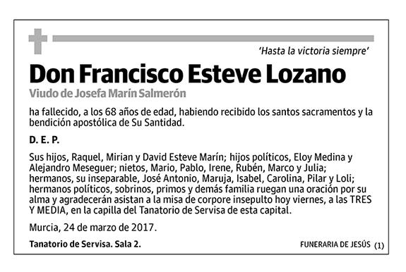 Francisco Esteve Lozano