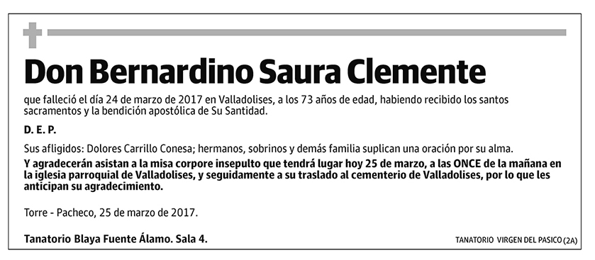 Bernandino Saura Clemente