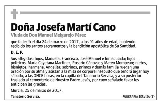 Josefa Martí Cano