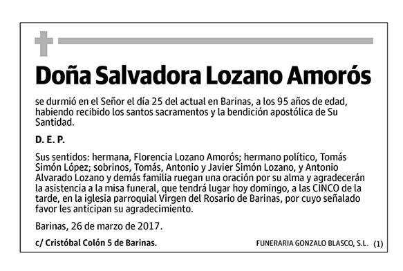 Salvadora Lozano Amorós