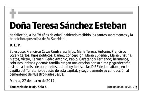 Teresa Sánchez Esteban