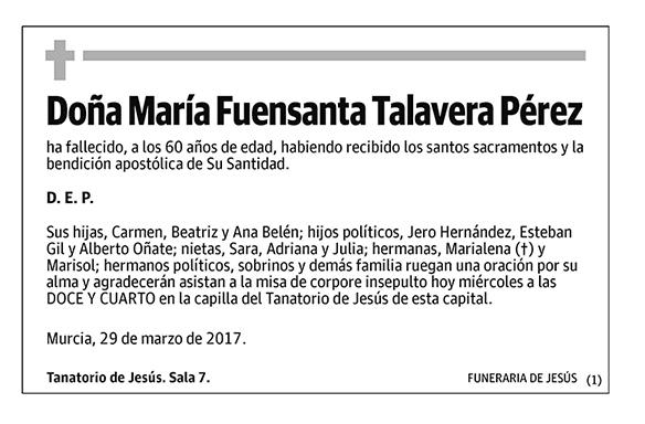 María Fuensanta Talavera Pérez