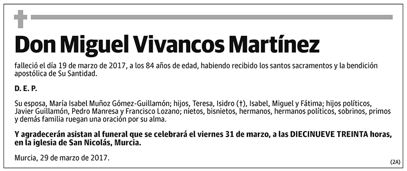 Miguel Vivancos Martínez