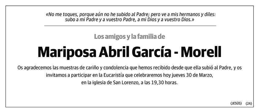 Mariposa Abril García - Morell