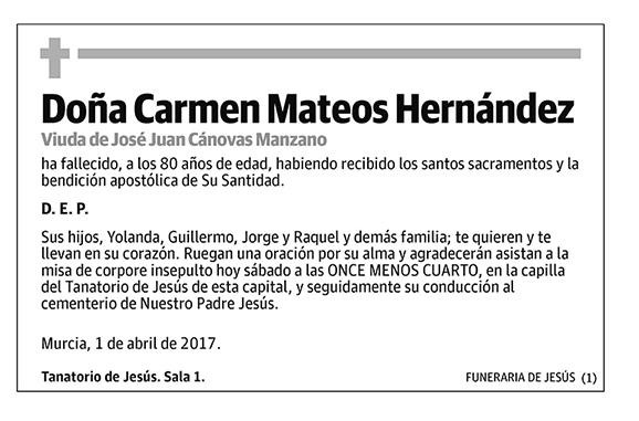 Carmen Mateos Hernández