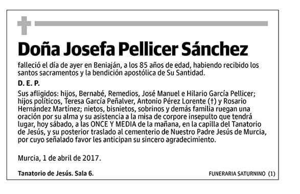 Josefa Pellicer Sánchez