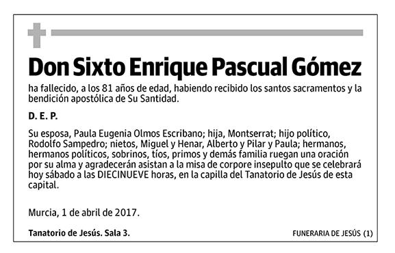Sixto Enrique Pascual Gómez