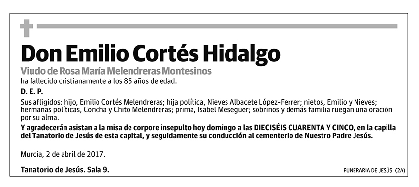 Emilio Cortés Hidalgo