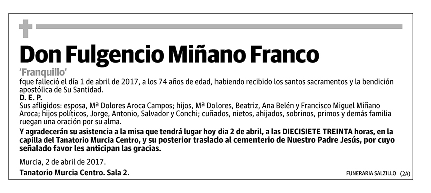 Fulgencio Miñano Franco
