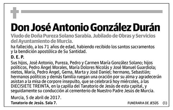 José Antonio González Durán