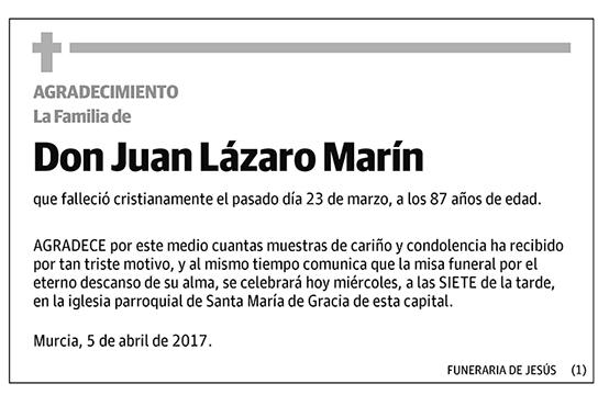 Juan Lázaro Marín