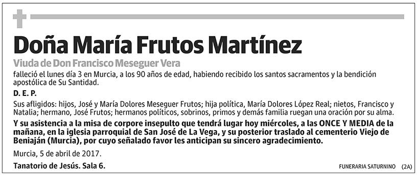 María Frutos Martínez