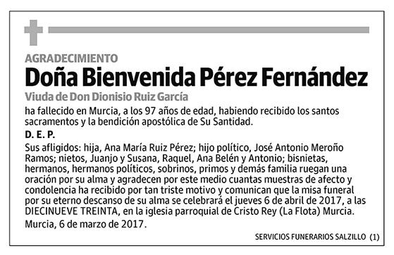 Bienvenida Pérez Fernández
