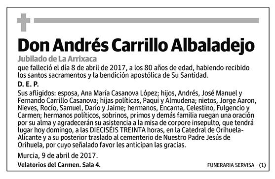 Andrés Carrillo Albadalejo