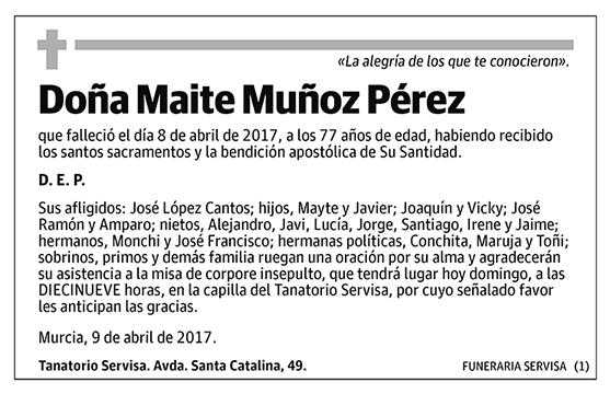 Maite Muñoz Pérez
