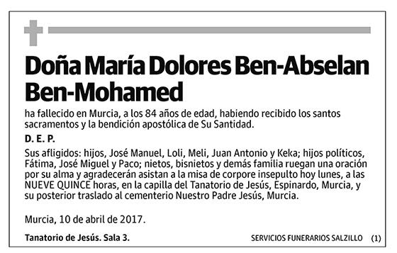 María Dolores Ben-Abselan Ben-Mohamed