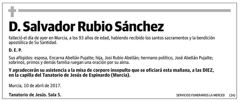 Salvador Rubio Sánchez