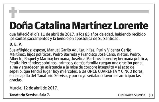 Catalina Martínez Lorente