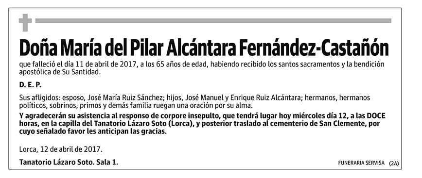 María del Pilar Alcántara Fernández-Castañón