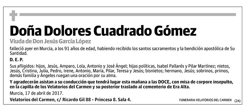Dolores Cuadrado Gómez