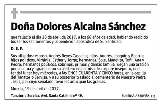 Dolores Alcaina Sánchez